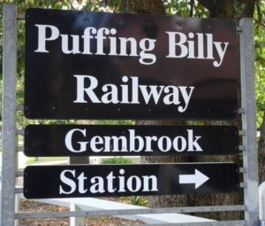 Gembrook Puffing Billy station sign