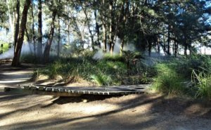 fog in australia: national gallery Stackhouse sculpture
