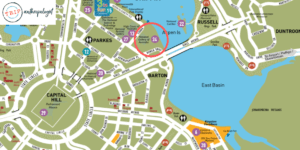 hidden sculpture garden map