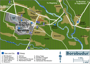 Map of Borobodur