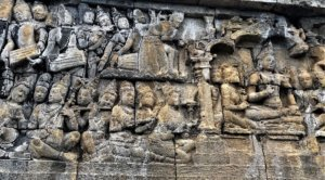reliefs at Borobodur Temple