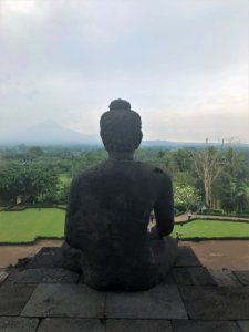 Buddha statue at Borobodur Temple