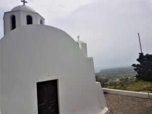 Church of Ekklisia Profitis Illias Santorini hike fira to oia
