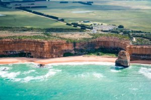 Australia 12 Apostles and Great Ocean Road from the air
