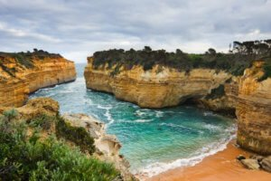 Loch Ard Gorge near the 12 Apostles in Australia