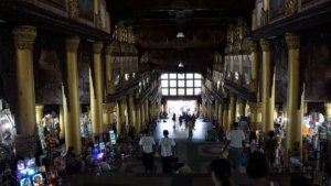 eastern staircase of the shwedagon pagoda
