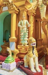 religious imagery shwedagon pagoda