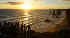 the Twelve Apostles Australia at sunset