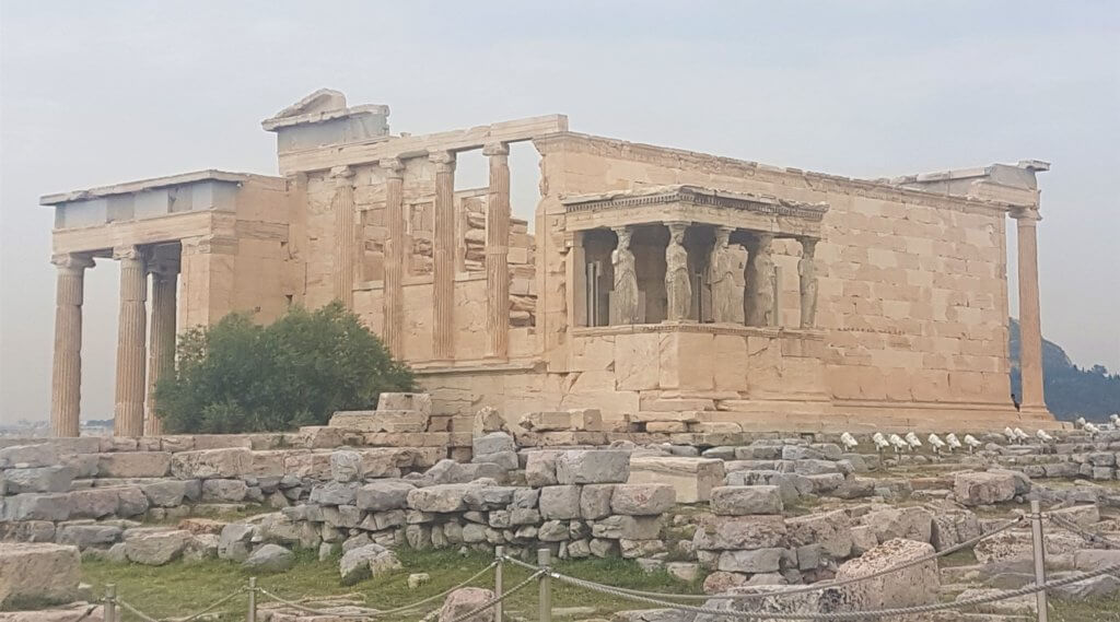 erechtheion with caryatid, acropolis