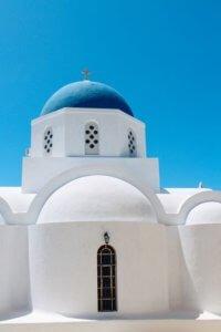 Church at Pyrgos village Santorini