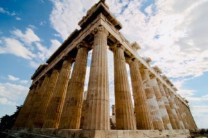 Parthenon when visiting the Acropolis