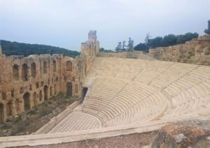 Ampitheater when visiting the Acropolis, Athens