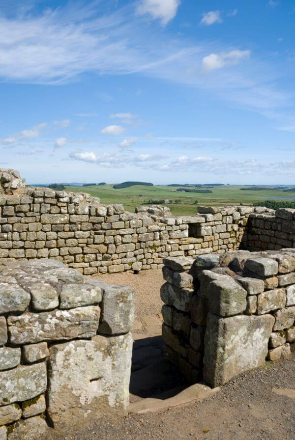 Fort on Hadrian's wall walk