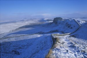 Hadrians wall hike in snow