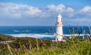 Cape Otway lighthouse on great ocean road holiday