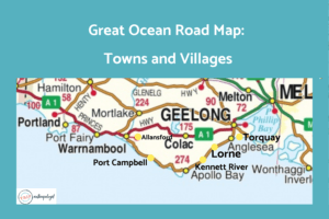 Great Ocean Road Map for where to stay
