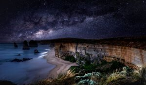 Great Ocean Road at night