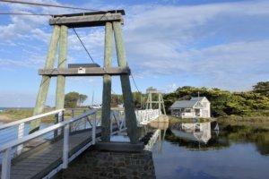 Lorne Swing Bridge and Boathouse on Great Ocean Road