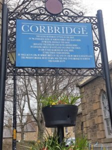 Corbridge sign near Hadrians wall