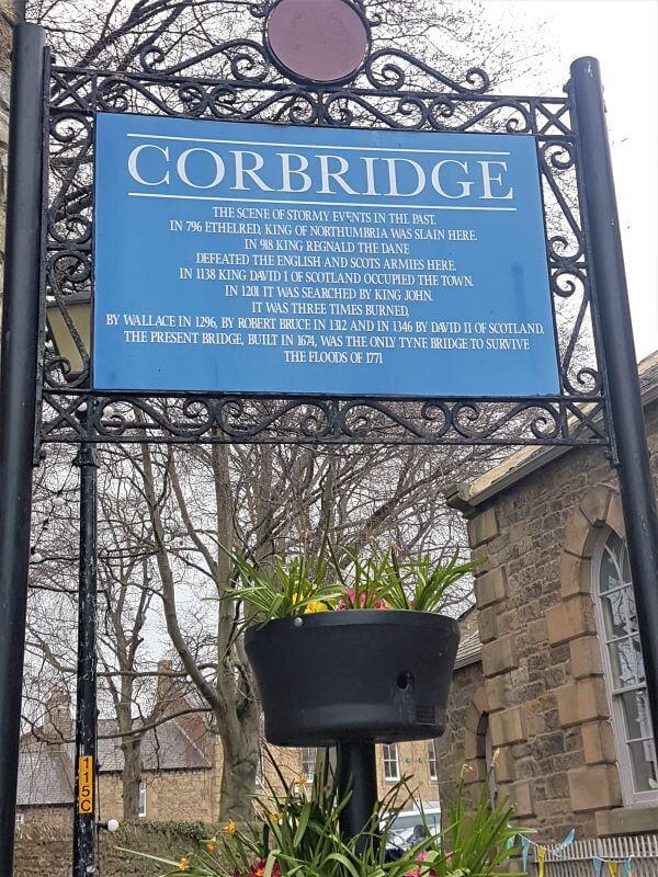 Vorbridge sign near Hadrians wall