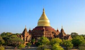 Dhammayazika Pagoda at sunset, Bagan(Pagan), Myanmar