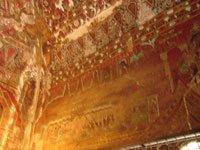 ananda-okkyaung wall mural in the myanmar ancient city of bagan