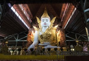 Buddha image at nga htat gyi pagoda