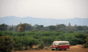 mandalay to bagan city myanmar by bus