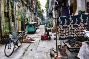 A street in downtown Yangon