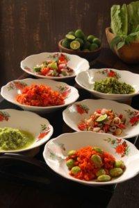 Aneka Sambal Nusantara, Several Popular Spicy Condiments