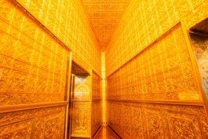 yangon myanmar points of interest: Golden Hall, in Botahtaung pagoda, Yangon, Myanmar.