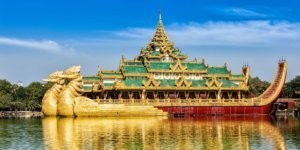 Karaweik Royal Barge,Places of interest in Yangon_ Kandawgyi Lake, Yangon