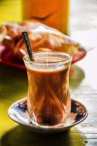 Milk tea in Burmese style