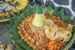 Nasi Tempung, the key dish for Indonesian Slamatan celebrations