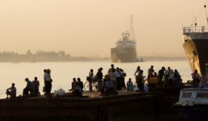 Yangon waterfront late in the afternoon