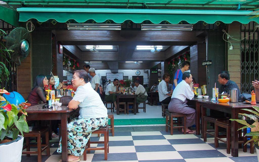 yangon tea shop