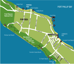 Map of Artists' Trail