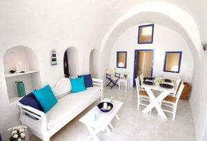 blu bianco cave house santorini