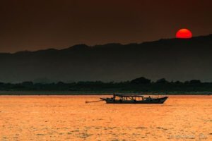 bagan river view irrawaddy sunset