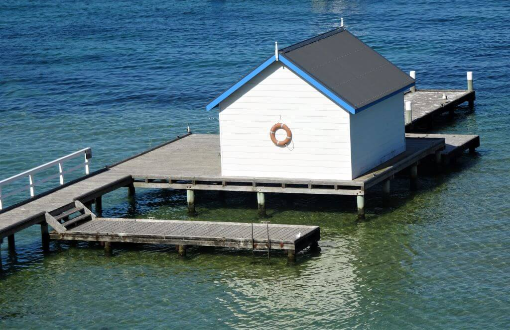 millionaire's walk private jetties and boat house