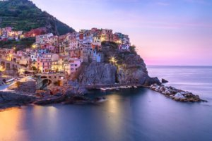 Morning hours in Manarola village cinque terre