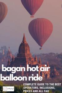 bagan hot air balloon ride over Bagan temples