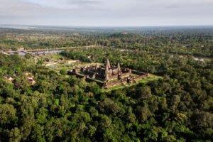 Angkor Wat Temple, Siem Reap, Cambodia, Aerial View