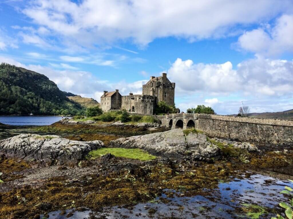 Eilean Donan historic site in scotland