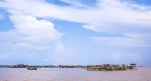 Fishing village at Tonle Sap Lake in Siem Reap