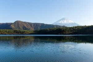 Lake Saiko and views of Mount Fuji
