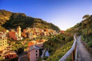 Manarola village, trekking trail. Cinque Terre, Italy