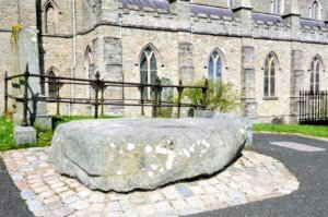 Saint Patrick's grave at Down Cathedral, Downpatrick