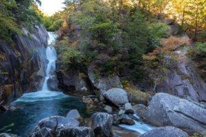 Senga Waterfall ( Sengataki ), A waterfall in Mitake Shosenkyo Gorge