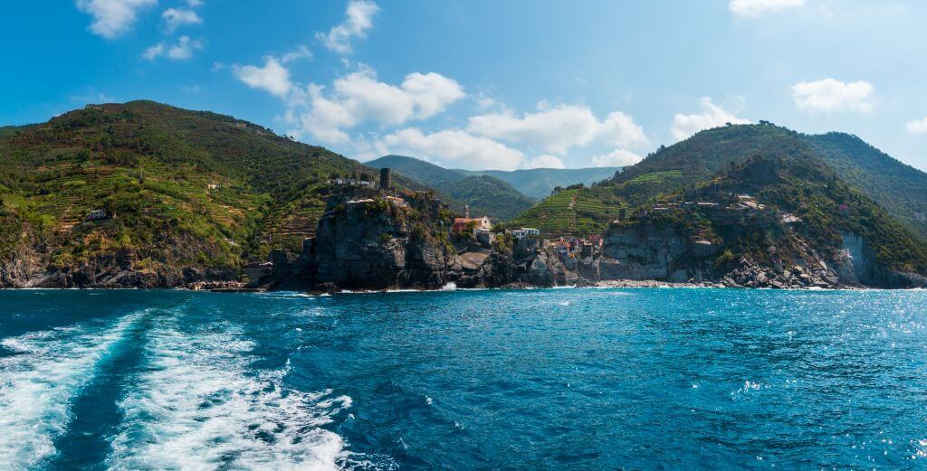 Vernazza, Cinque Terre from the water